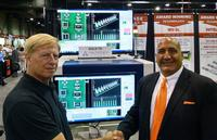 From left to right: Cal Houdek, Co-owner of CALTRONICS, and Brian D'Amico, President of MIRTEC.