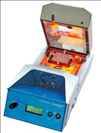MARTIN's Mini-Oven 04 Reball/Prebump unit is ideal for the complete QFN solder bumping process, even for the smallest pitches.