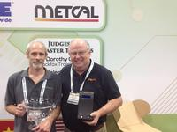 Jerry Simmons presents MX-5210 Metcal Soldering System to Brian Wade