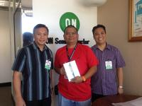 Mr. Rafael Reyes, ON Semiconductor Philippines, won the iPad Mini in a drawing that all customer survey participants were entered into.