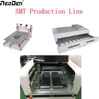 Small SMT Line Pick place machine NeoDen4 without auto Rails+T-962C reflow oven soldering machine+stencil printer PM3040
