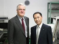 rom left to right: Professor Michael Keniger and President Tetsuro Nishimura