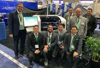 Mark Brawley with members of the Quiptech team at the recent APEX Expo.