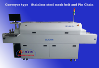 SMT reflow oven R50CD with mesh belt and pin chain