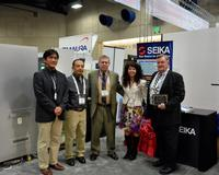 Steve Kirby and Allen Siebenthall of Kirby & Demarest earned the 1st place SAYAKA 2014 sales award from Seika Machinery Inc.