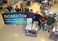 Some of the members of Sono-Tek's production and service team that were involved in Sono-Tek's 4000th ultrasonic spray fluxer milestone.