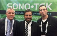 From left to right: Steve Harshbarger - Sono-Tek President, Roberto da Cruz - Owner, Plottec, and Brian Booth - Sono-Tek RSM.
