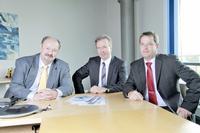 Executive Board Viscom AG, f. l. t. r.: Volker Pape, Dr. Martin Heuser, Dirk Schwingel