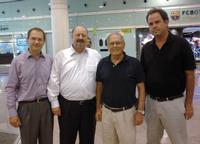 SILGAL – new Viscom representative in Spain and Portugal, from left to right: Christian Morlier, General Manager Viscom France, Volker Pape, member of Viscom Executive Board, José Madureira, General Manager at SILGAL and José Luis Pardo, Sales Manager for SILGAL in Spain and Portugal.
