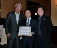 Mr. Senta Wong (L), Mr. Tetsuro Nishimura (C) and Mr. Victor Chang (R)