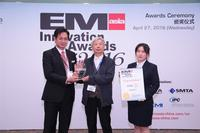 ASM Senior Manager Taiwanese Accounts,Jeff Jian EM receiving the Asia Innovation Awards for SIPLACE TX and DEK NeoHorizon iX.
