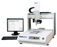 The Catalina benchtop system is a full-featured platform with these standard features: automatic vision, laser surface sensing, and nozzle alignment.