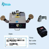 SMD reel tape components counter with bar code printer and scanner