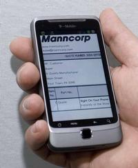 Apex attendees visiting Manncorp's Booth #2625 won't see live equipment, but will have the opportunity to check out video demos, specs and product features. Instant quotes will also be available on mobile devices as shown.