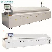 Automatic 6,8,10,12 zones lead free pcb board reflow soldering machine