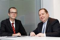 Dr. Bostjan Podobnik (left) and Wolfgang Zeike (right) head the Slovenian subsidiary LPKF Laser & Electronics d.o.o.