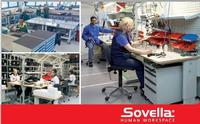 Sovella designs and manufactures ergonomic industrial furniture such as work tables and work benches, shelving and cabinets, drawer units, manual assembly lines for various industries, homes and public buildings.