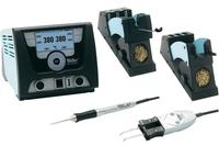 The Weller WX2021 High Powered Soldering Station with 1 WXMP and 1 WXMT Pencils have 200 watts and a large graphic LCD display can be viewed from all angles.